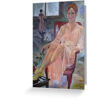Lightness-portrait of Kirsty Martin, former principal ballerina of Australian Ballet Greeting Card