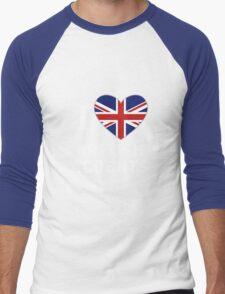 I Love British Accents (Black Text ) Men's Baseball ¾ T-Shirt
