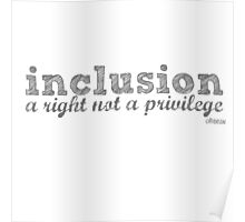 inclusion- a right not a privilege Poster