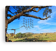 Hanging around the farm on a sunny day Canvas Print