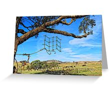 Hanging around the farm on a sunny day Greeting Card