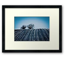 The ploughman homeward plods his weary way Framed Print