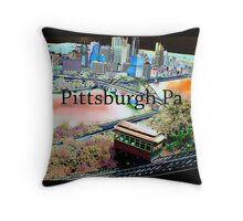 Pittsburgh PA Throw Pillow
