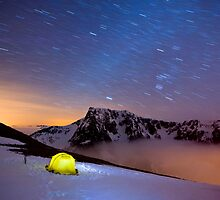 Star Trails over Ben Nevis by Justin Foulkes
