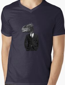 The Saurus Society - No Extinction Theory Mens V-Neck T-Shirt