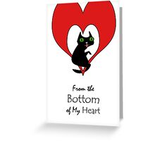 From the Bottom of My Heart, Cat Hangs On Greeting Card