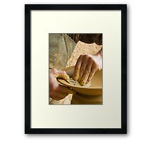 The Hands of the Potter II Framed Print