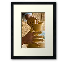 The Hands of the Potter IV Framed Print