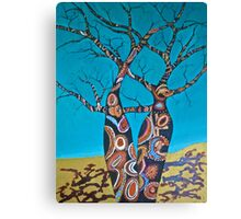 BOAB TREES with Aboriginal theme Canvas Print