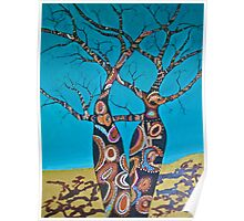 BOAB TREES with Aboriginal theme Poster