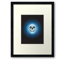 Blue Skull  Framed Print