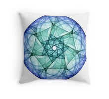 Turquoise and Sapphire Throw Pillow
