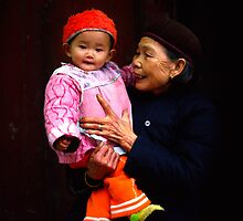Grandmother and child China by sloweater
