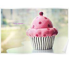 Cherry cupcake Poster