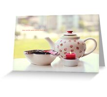Join me for some tea Greeting Card
