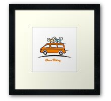 Mercedes Sprinter Gone Biking Framed Print