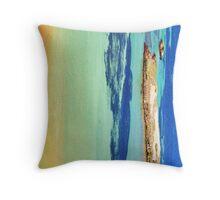 Sharks go abstract Throw Pillow