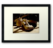 From Baby to Man in the Blink of an Eye Framed Print
