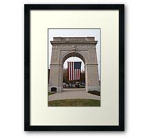 Memorial Arch Framed Print