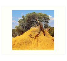 Tree Mound Art Print