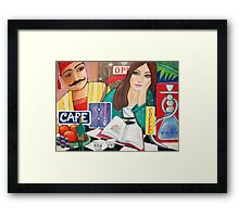 Cafe and Waterpipe Framed Print
