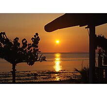Sunset Beer bungalow 1 Photographic Print