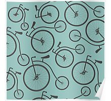 Vintage Retro Bicycle background Poster