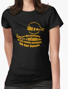 Ducks Obviously Womens Fitted T-Shirt