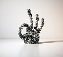 Wire Sculpture of Hand by SavannahStone