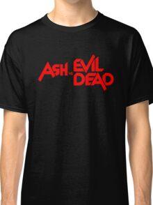 ASH VS EVIL DEAD TITLE Red Classic T-Shirt