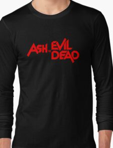 ASH VS EVIL DEAD TITLE Red Long Sleeve T-Shirt