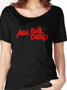 ASH VS EVIL DEAD TITLE Red Women's Relaxed Fit T-Shirt
