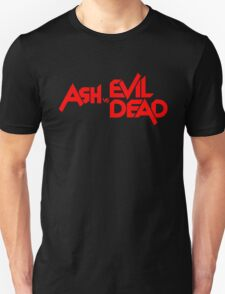 ASH VS EVIL DEAD TITLE Red Unisex T-Shirt