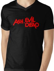 ASH VS EVIL DEAD TITLE Red Mens V-Neck T-Shirt