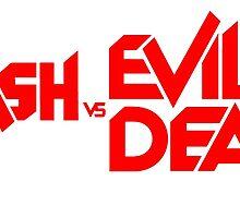 ASH VS EVIL DEAD TITLE Red by PrettyStuff