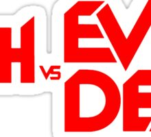 ASH VS EVIL DEAD TITLE Red Sticker
