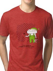 'I like nonsense... Dr.Seuss quote / Cat doodle Tri-blend T-Shirt