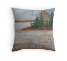 Island Lake - revisited Throw Pillow