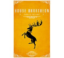 House Baratheon Photographic Print
