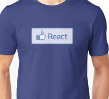 React button Unisex T-Shirt