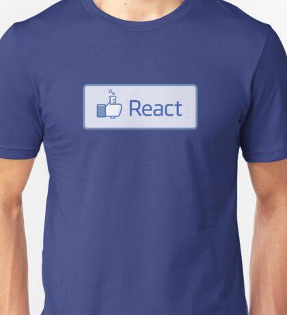 React button Unisex T-Shirt