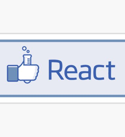 React button Sticker