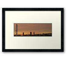 London at sunset Framed Print