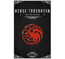 House Targaryen Photographic Print