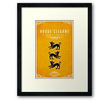 House Clegane Framed Print