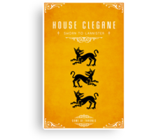 House Clegane Canvas Print