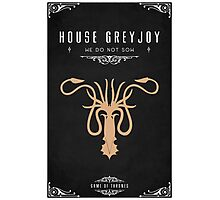 House Greyjoy Photographic Print