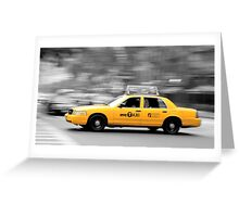 Speed in NY Greeting Card