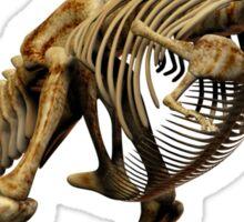 Dinosaur skeleton tee and phone case Sticker