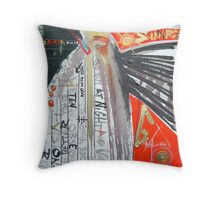 closed eyes at night Throw Pillow